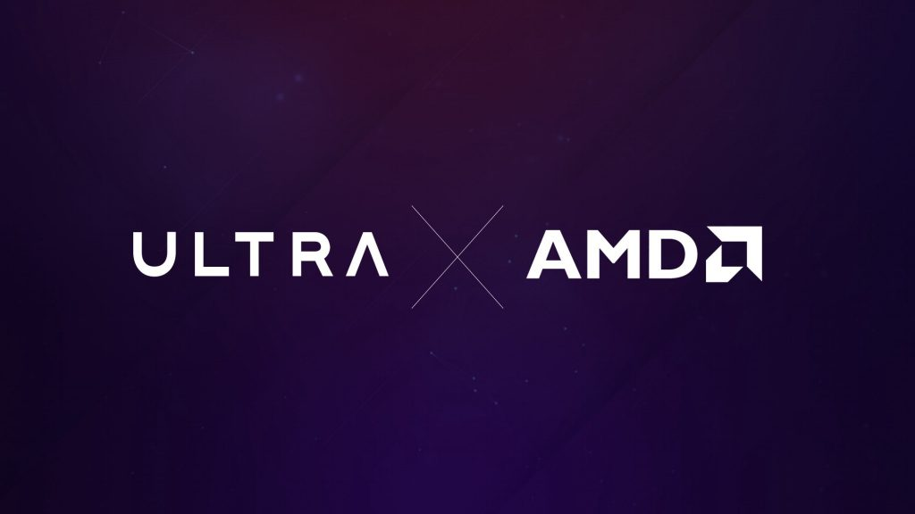 A graphic about Ultra's recently announced partnership with global tech giant AMD