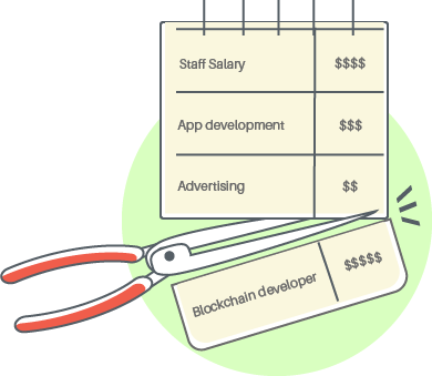 A graphic showing how Smartpress can help save on developer salaries