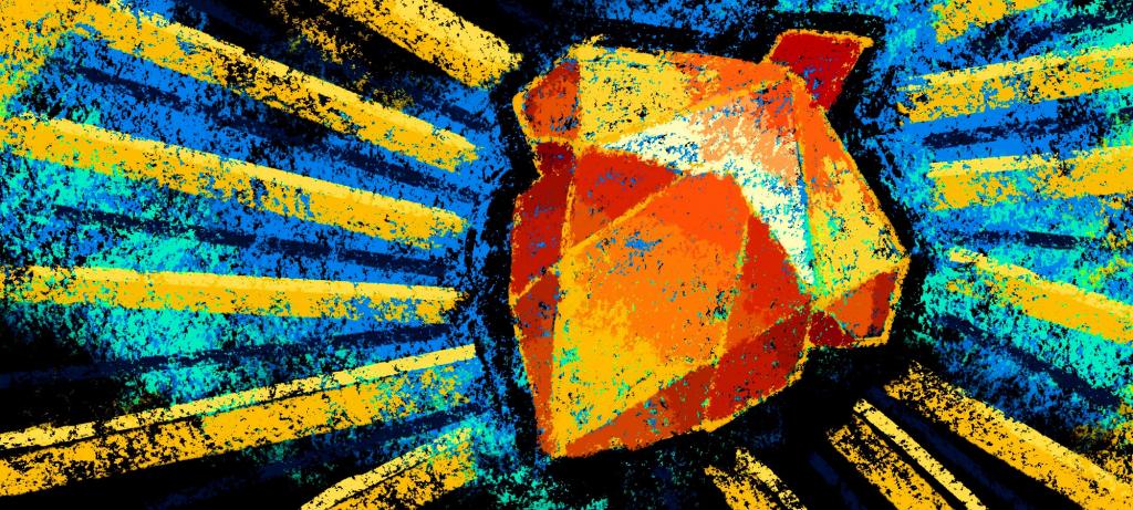 Stylistic image featuring Telos acorn logo