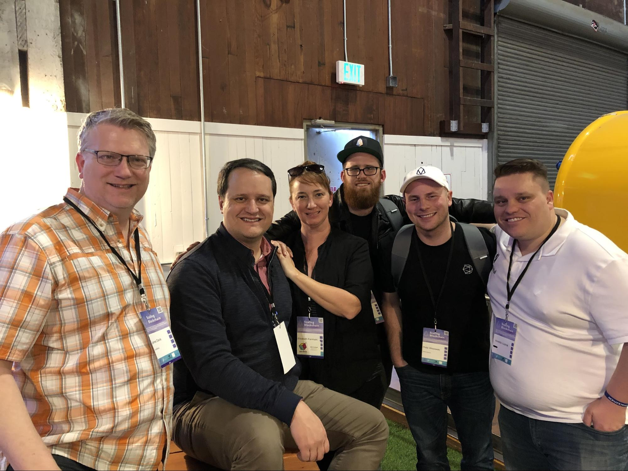 Telos team members at Scaling Blockchain conference in San Francisco.