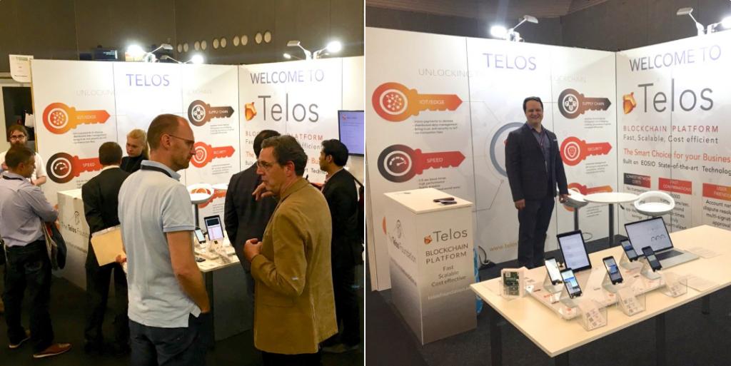 The Telos booth at Blockchain Expo Amsterdam