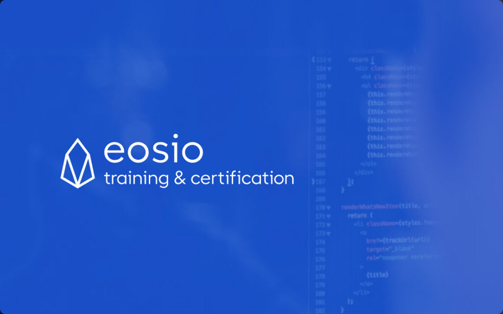EOSIO Training and Certification