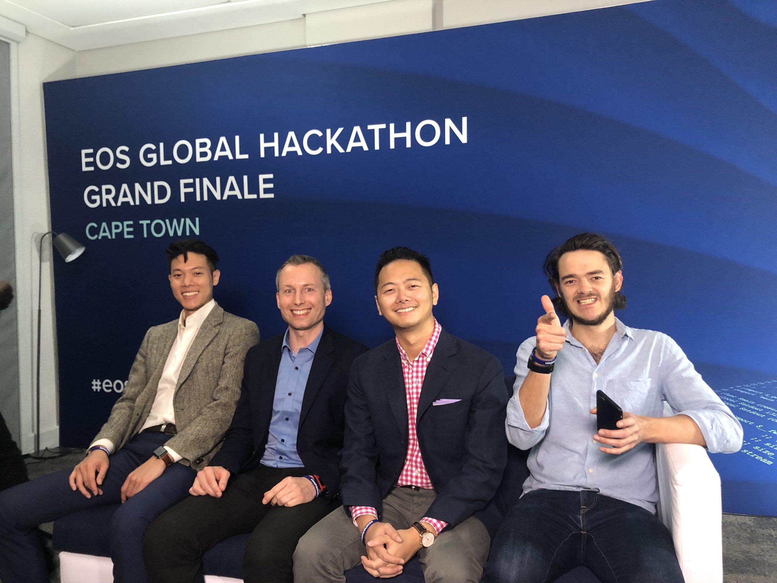 The GeneOS team (left to right): Benjamin Tse, Jens Elstner, Albert Chen, Jay Bowles